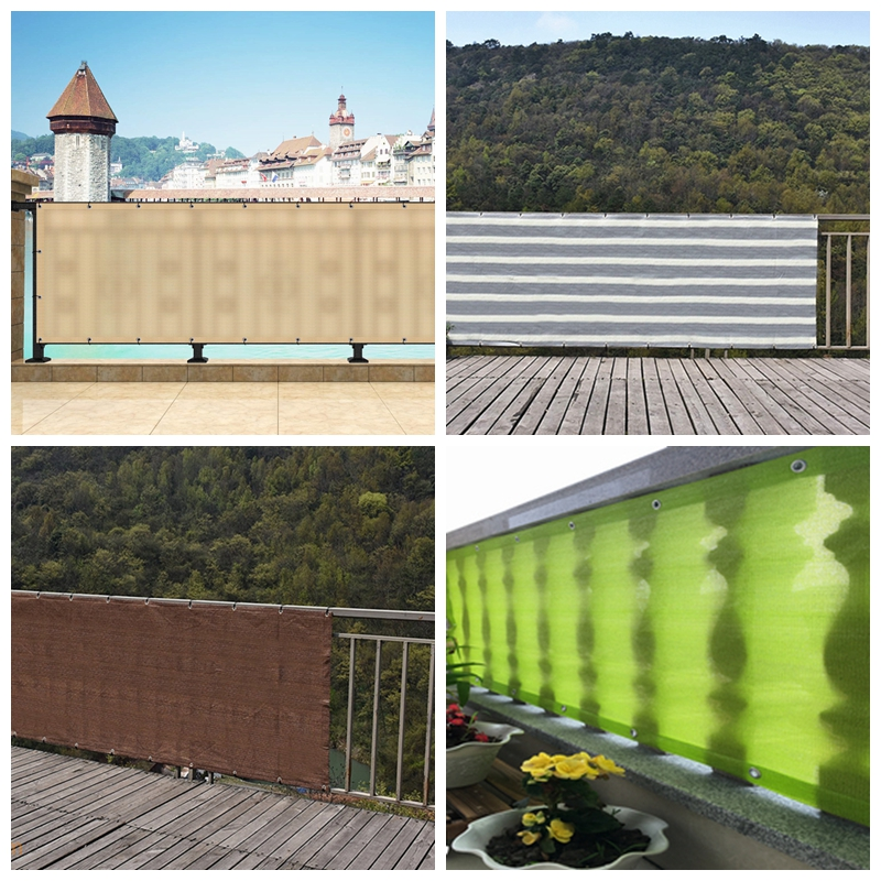 0.9x1.8/2.7/3.6m HDPE Anti-UV Sunshade Net Home Courtyard Balcony Fence Safety Net Plant Cover Sunscreen Sunblock Shading Cloth