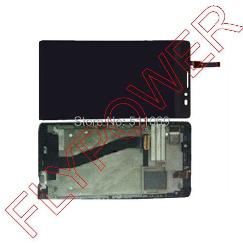 For Lenovo k910 Lcd Display Touch Screen Digitizer Assembly +Frame black by free shipping