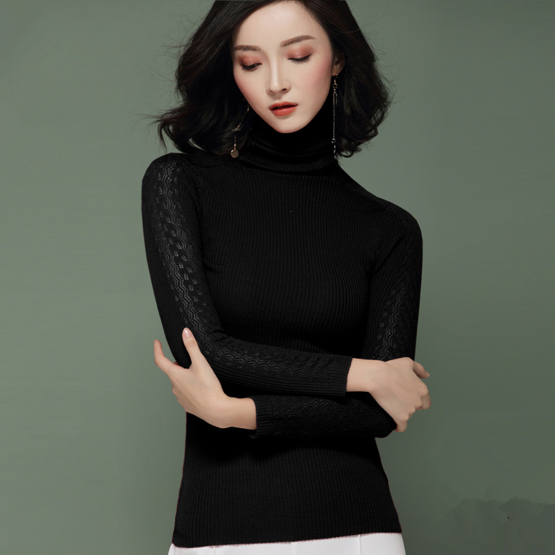 100% Wool Knitted Sweater Women Tops Autumn Winter Korean Turtleneck Sweaters Women Clothes 2019 Pullover Camiseta Mujer MY2516