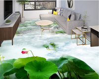 Beibehang 3d Flooring Beautiful Happy Fairy Life Wallpaper Interior Fairyland Pond Papel De Parede Wallpaper For