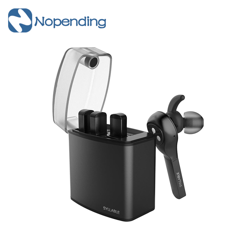 New Original Syllable D9X TWS Wireless Bluetooth Earphone Portable Lighter Stereo Headset Earbud Mic for iphone 6 Xiaomi 3 Phone bluetooth earphone mini wireless stereo earbud 6 hours playtime bluetooth headset with mic for iphone and android devices
