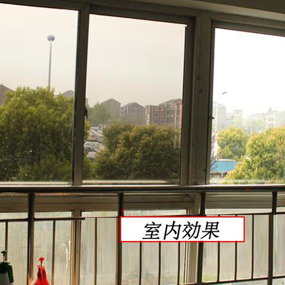 Argent et Bronze Teinte Une Façon Film de Fenêtre de Soleil Blocage Maison En Verre Teinte Maison Éboulis Miroir Film D'habitation 1.52x20 m