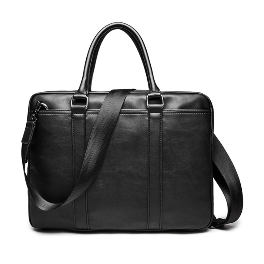 New Luxury Leather Men's Briefcase Leather Male Business Briefcase Shoulder Bag Men's Messenger Bag Tote Computer Handbag Hot