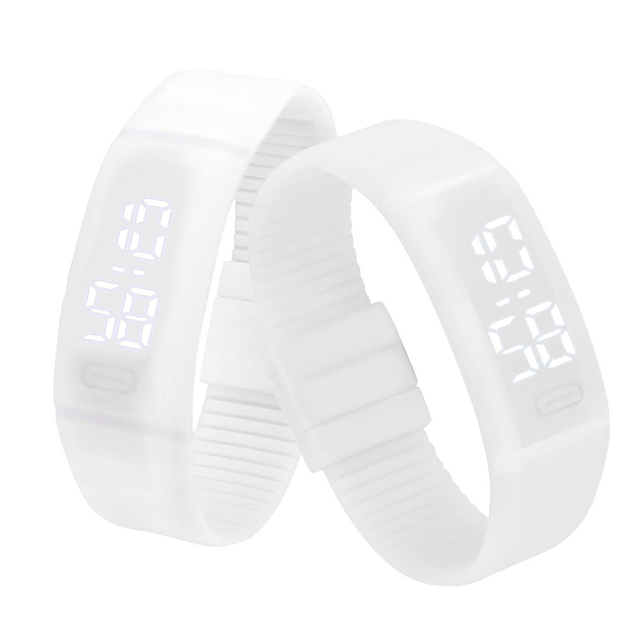 Montre Rubber Sports Curren 1pc Wrist Watch Digital LED Bracelet Watches Women M