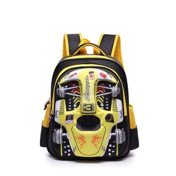 2019 Hot 3D EVA car children schoolbag racing Three dimensional waterproof schoolbag Boys and girls Lovely kids Cartoon Backpack - small