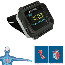 CE FDA 650nm Wrist Diode LLLT For Diabetes Hypertension Treatment Watch Laser Rhinitis Therapeutic Apparatus High Blood Pressure недорого