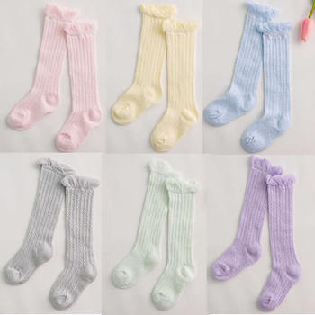Baby Girl Socks 0-24 months Toddler Baby Cotton Mesh Breathable Socks Newborn Infant knee high Baby Girls Socks 1