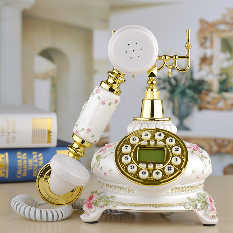Dickdenton/ Denton Dick European craft craft telephone antique Decoration home art phone Caller ID backlit Rotary Dial