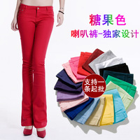Zomer bell-bottoms 2018 panty katoen jeans goedkope kleurrijke lange bell bottom jeans casual denim jeans vrouw