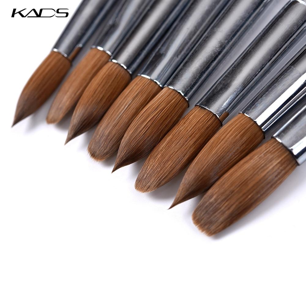 100% Kolinsky Sable Acrylic Gel Nail Brush Red Wood Nails Art Pen Acrylic Nail Brush Nail Art Brush Set Poly Gel Builder Brushes
