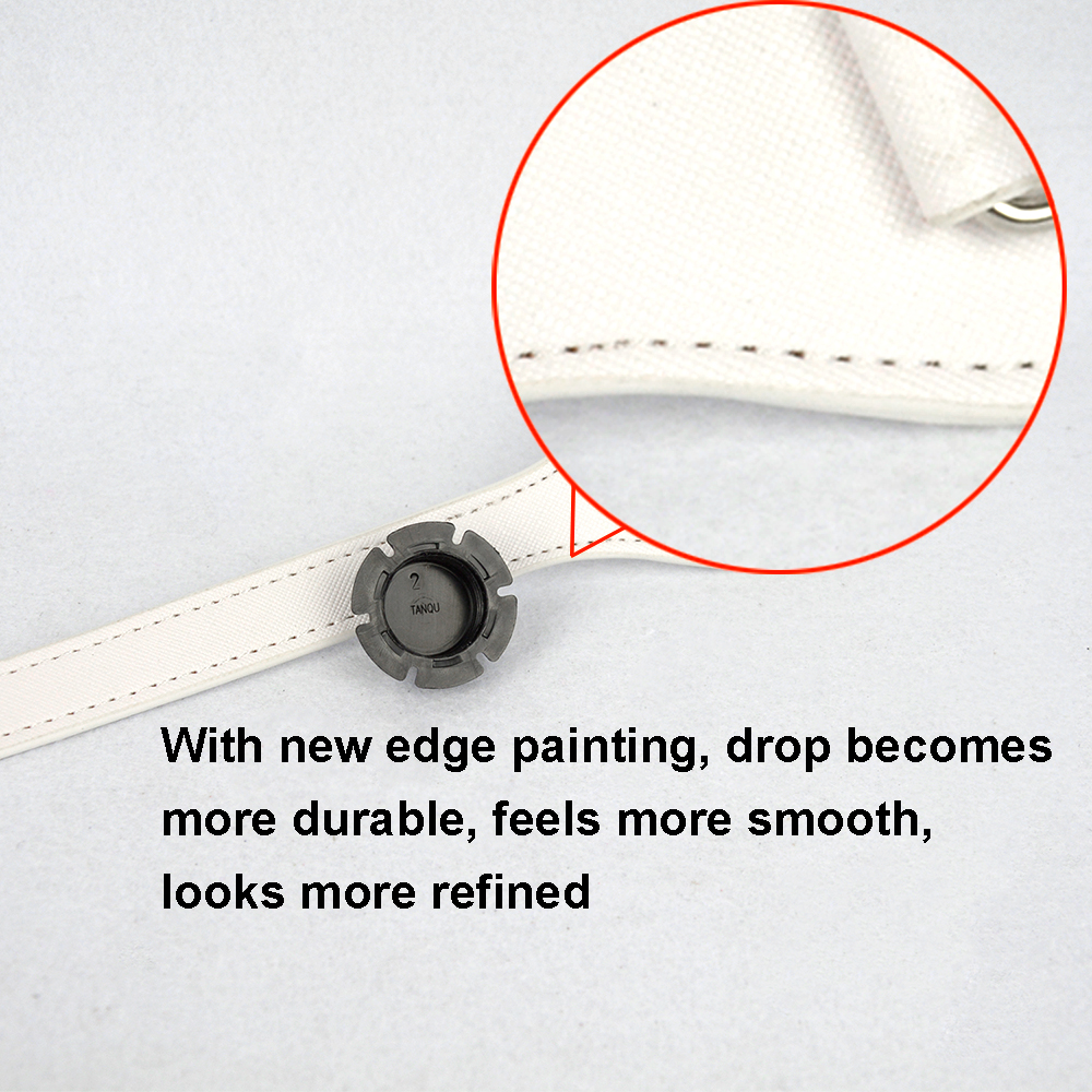 Image 2 - Tanqu Long 68cm Edge Painting D Buckle Round Teardrop End Handles Faux Leather Handles for OBag Chain Pendant for EVA O BagBag Parts & Accessories   -