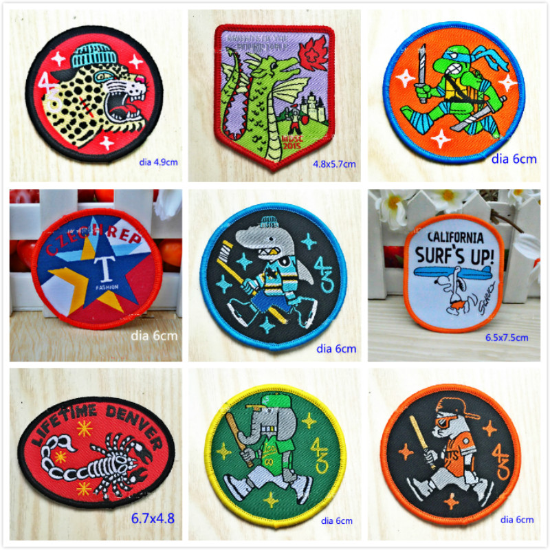 100 PCS/LOT FUN CARTOON Patches for BIKER BACKPACK KIDS CLOTHES Sewing Accessories ART DIY Scrapbook HOME DECOR