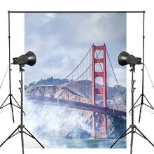 5x7ft San Francisco Golden Gate Photography Background USA Fog Bridge Backdrop Photo Studio Props Wall