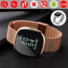 La Pression artérielle La Connectivité Bluetooth Montre Smart Watch Horloge Étanche De Bain Coeur Taux Smartwatch Fitness Montre Pour Android iOS