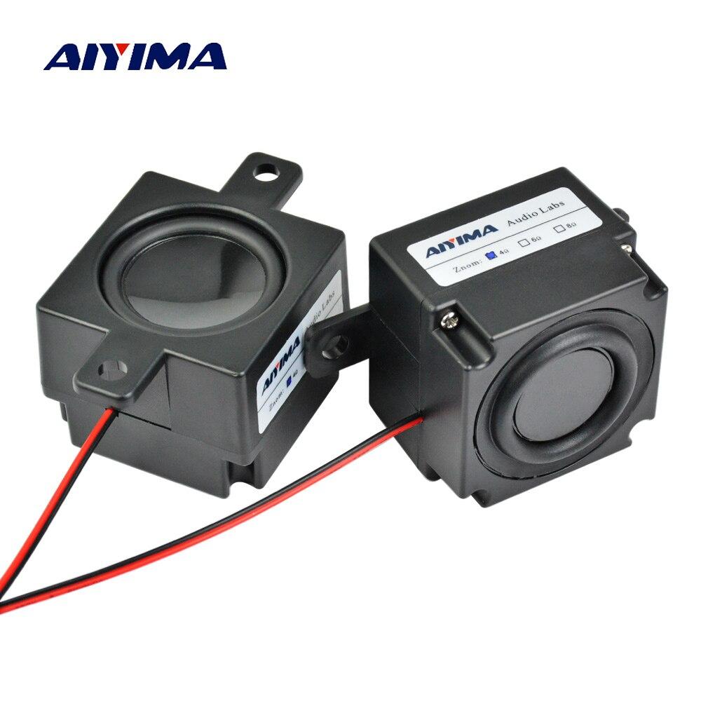 AIYIMA 2Pcs Mini Audio Portable Speakers Column 4Ohm 3W Altavoz Portatil Speaker Cavity Diameter 45MM Magnetic Speaker Computer