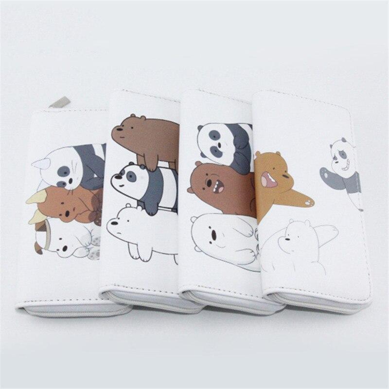 High Quality Long We Bare Bears Women's Purse Cute Cartoon Wallet Money Bags For Teenagers Girls Female Ladies Clutch Purse
