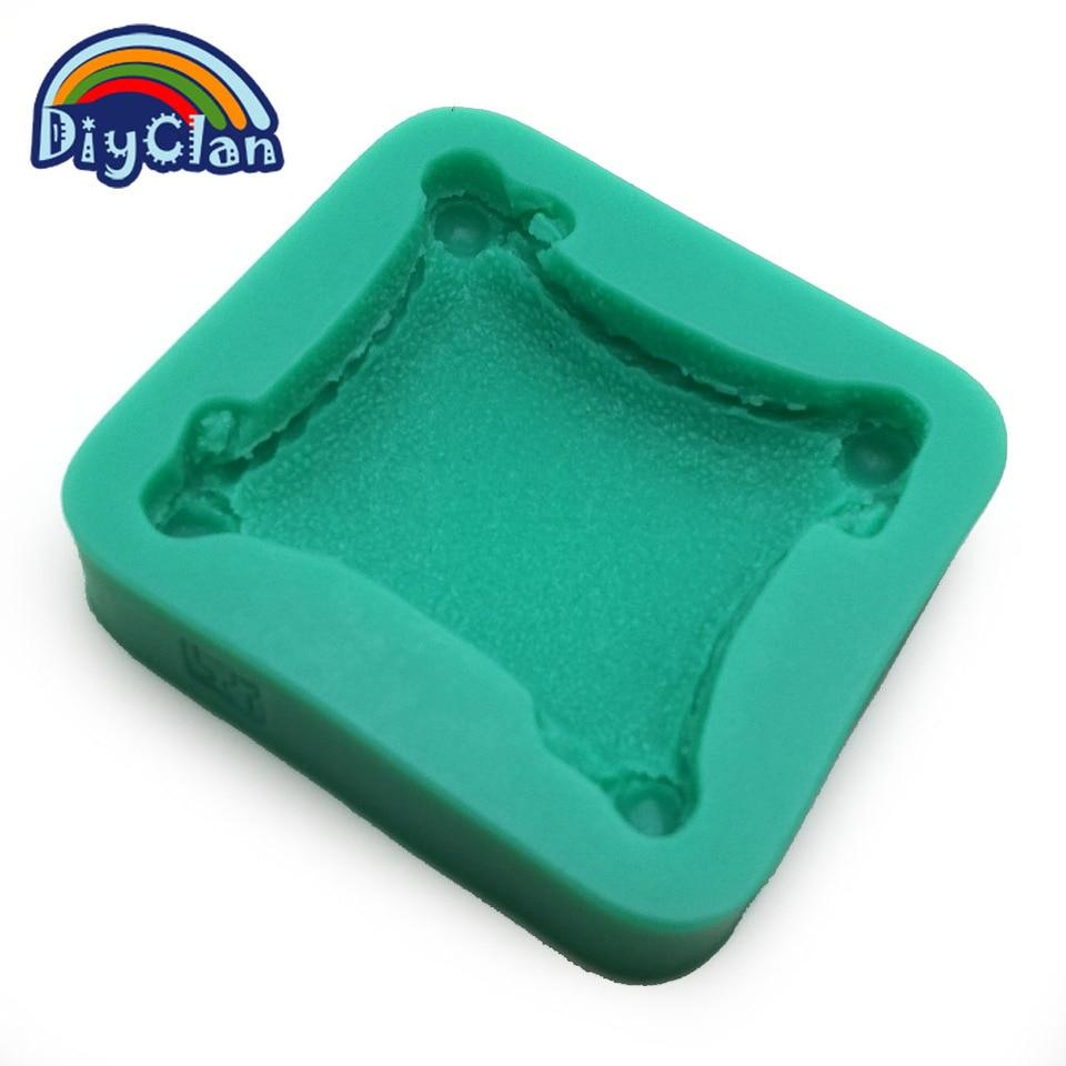 3D Pillow Shape Cupcake Decoration Mold DIY Silicone Chocolate Fondant Cake Tool