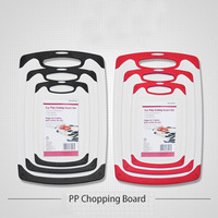 3Pcs/Set High Quality Kitchen Chopping Board 2 Colors Plastic Safe Cutting Board