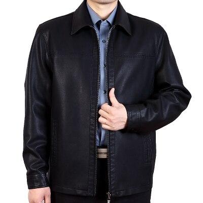 Men's Leather Jackets 2016 Winter Soft PULeather Jackets Imitation Sheepskin Coat For Men Leather Clothing Big Size + Cotton