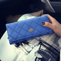 Pu Casual Women Plaid Wallet With Crow Short Fashion Hasp Purse Portable Preppy Style Clutches Elegant