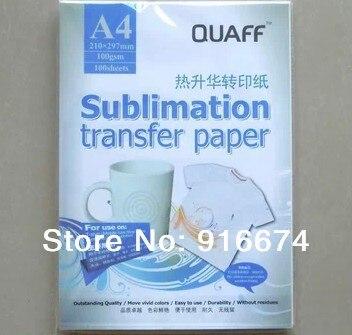 Rapide Livraison gratuite 1000 feuilles A4 sublimation papier de transfert de papier de transfert de chaleur pour la tasse conseil oreiller chemise