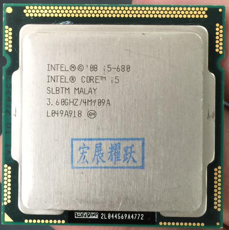 Intel Core I5-680  I5 680 Processor CPU (4M Cache, 3.6 GHz) LGA 1156 100% Working Properly Desktop Processor