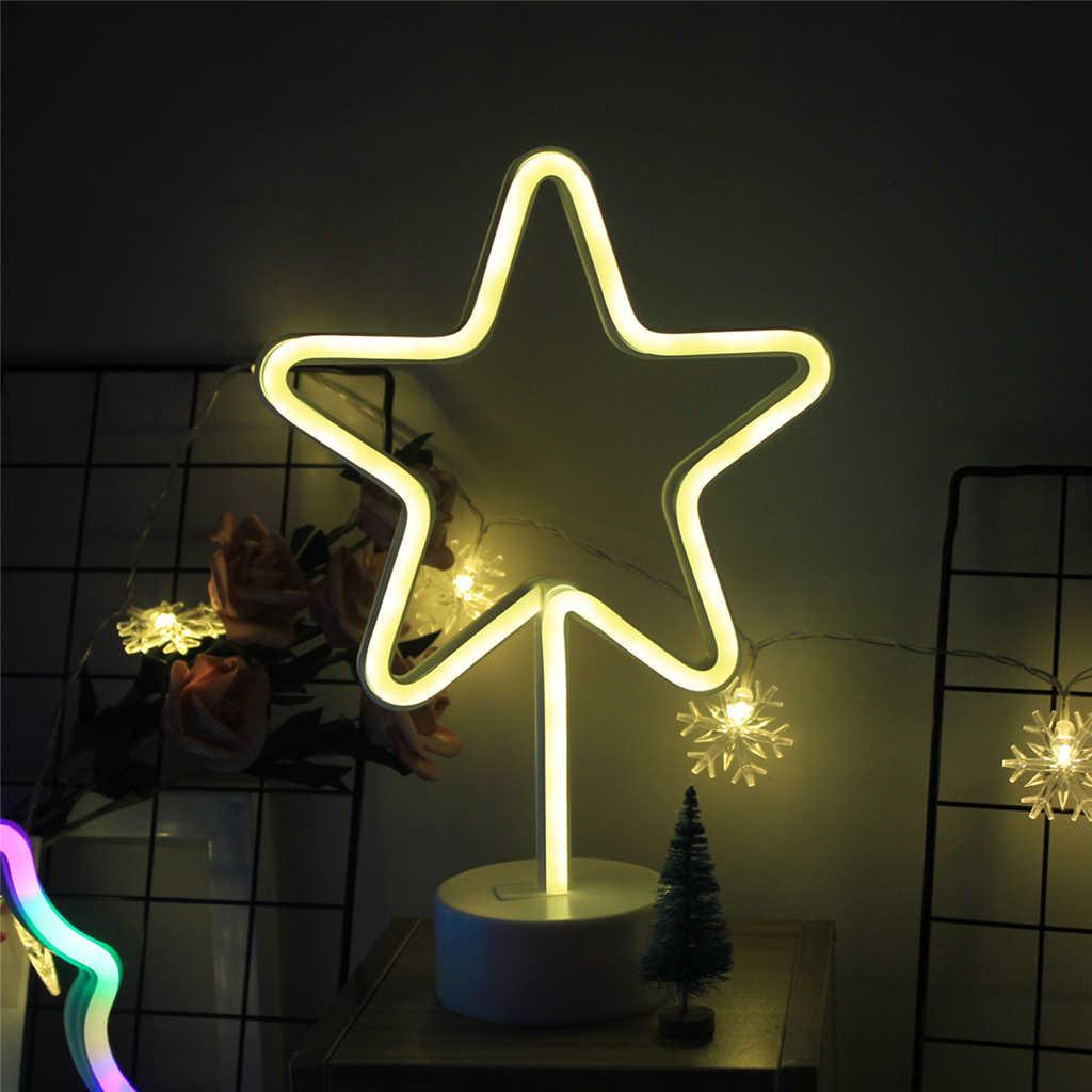 ドロップシッピングかわいい夜の光虹ネオンサイン Led バッテリーライト家の装飾、ネオンランプ女の子の寝室のためサボテンランプ