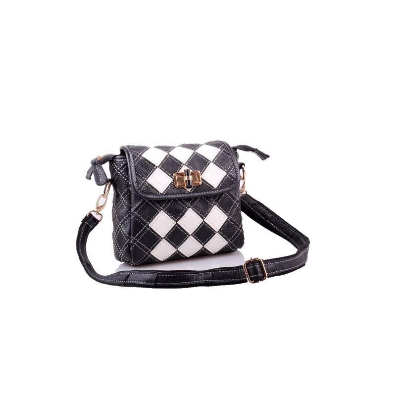 Genuine Leather Women's Shoulder Bag Fashion Patchwork Plaid Women Cross Body Bags Colorful Tote Lady Messenger Bag-in Top-Handle Bags from Luggage & Bags    2