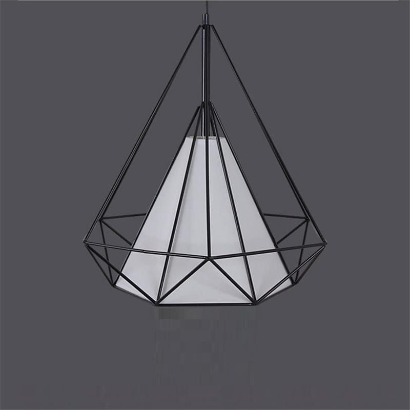 Black Shade Wrought Iron Lighting Fixtures Modern Pendant Lights - Black wrought iron bathroom light fixtures