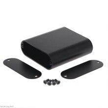 Aluminum Enclosure PCB Instrument Box Electronic Project PCB Instrument Case Box 75*70*24mm Black