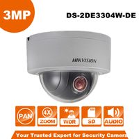English Version Hikvision PTZ IP Camera DS 2DE3304W DE 3MP Network Mini Dome Camera 4X Optical