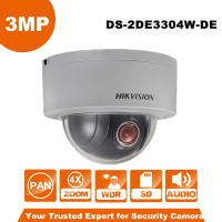 English Version Hikvision PTZ IP Camera DS 2DE3304W DE 3MP Network Mini Dome Camera 4X Optical