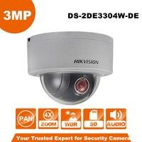 גרסה אנגלית Hikvision PTZ IP מצלמה תמיכת זום אופטי מצלמה 3MP רשת Mini Dome DS-2DE3304W-DE 4X Ezviz מבט מרחוק