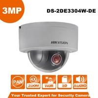 Engels Versie Hikvision PTZ IP Camera DS-2DE3304W-DE 3MP Netwerk Mini Dome Camera 4X Optische Zoom Ondersteuning Ezviz Remote View
