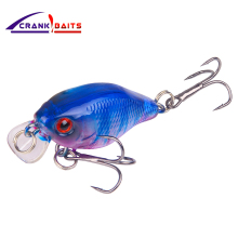Купить с кэшбэком CRANK BAITS Hot Modal 45mm 4.5g 1Pcs Bass Fishing Lures Artificial Crank Bait Wobblers Japan Swim Bait Triple Hooks Lure YB240