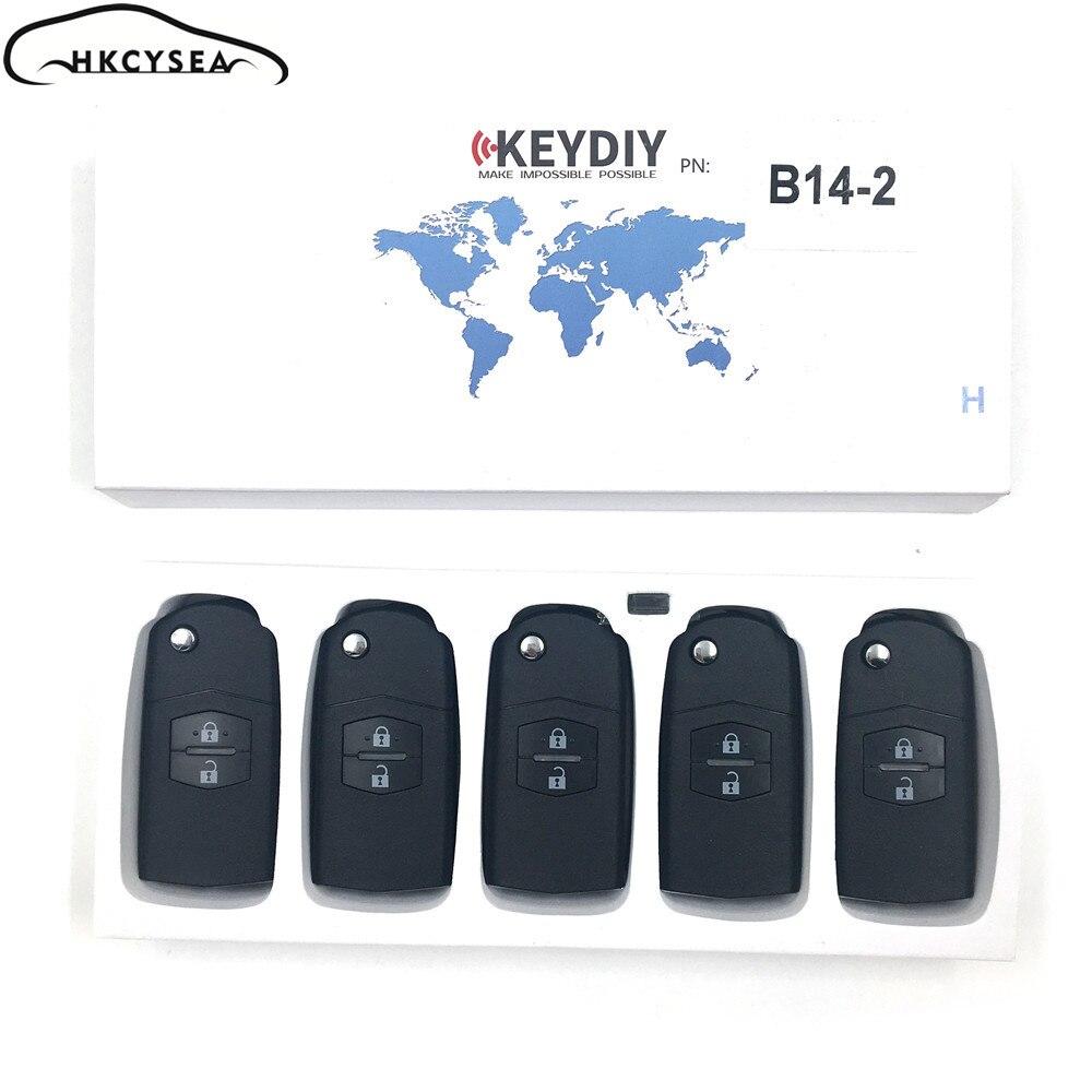 HKCYSEA 5PCS LOT Original B14 2 2 Button Remote Key for KD900 KD900 URG200 KD200 Key