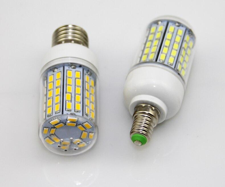 100X LED Licht Ultra heldere E14 E27 Led lampen Lamp Maïs 30 W SMD 5730 Met Cover 96 led Warm Wit Koel Wit 110 V/220 V - 6