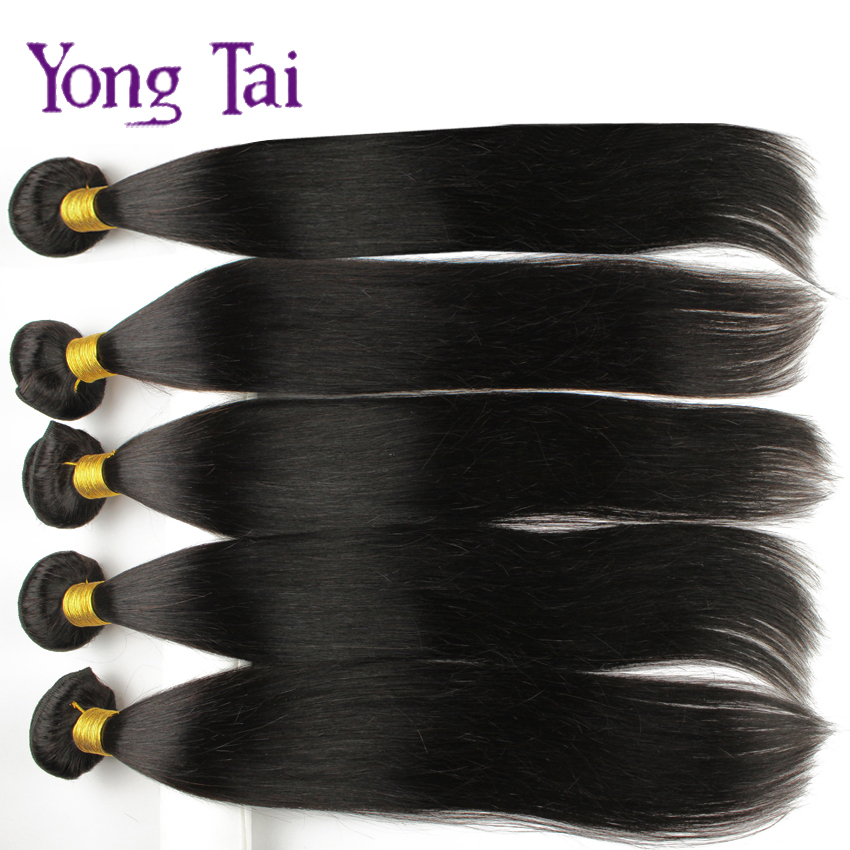 6A Brazilian Virgin Hair Straight 5 Bundels unprocess Human Weave Natural Black Brown Dark Light Color