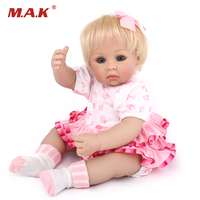 50 CM Lifelike Doll Silicone Baby Dolls Realistic Reborn Baby Girl Kids Playmate Toys For Collection 20 Inches