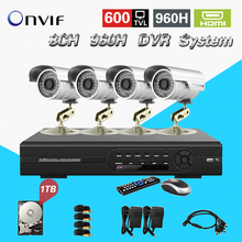 TEATE 8ch 960h cctv video surveillance security system with 4pcs outdoor camera dvr kit for monitoring 8 ch with HDD 1TB CK-119