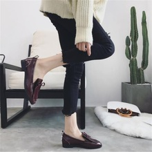 Fragrantlily 2018 Spring autumn British style new hot women shoes pumps sexy fashion Lazy tassel woman single shoes Square head