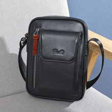 BAQI Brand Men Handbags Messenger Bag 2019 Fashion Genuine Leather Cowhide High Quality Men Shoulder Bags Crossbody Casual Bag
