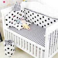 9 шт./компл. Детские бортики для кроватки постельные принадлежности набор малыш мультфильм комплект постельного белья Мягкий простыня для д