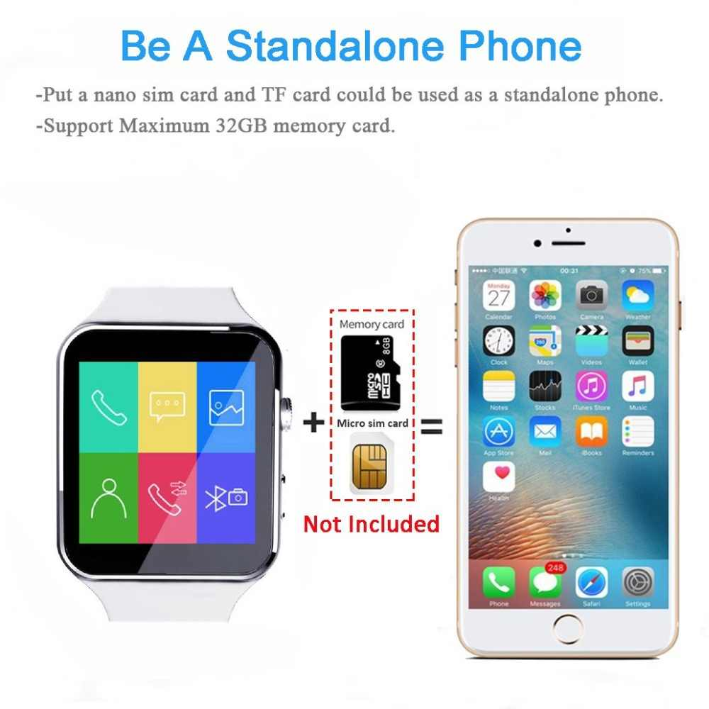 Reloj inteligente Sim mensaje Bluetooth para Android IOS reloj deportivo para hombres mujeres reloj inteligente para iPhone Xiaomi Huawei Samsung