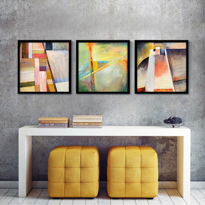 abstract geometry oil canvas painting dimmed wall picture home house decoration stuff photo prints for living - Home Decoration Stuff