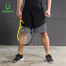 VANSYDICAL мужские спортивные шорты однотонного цвета стиль для занятий спортом на улице брюки для тренировок одежда с полиэстер