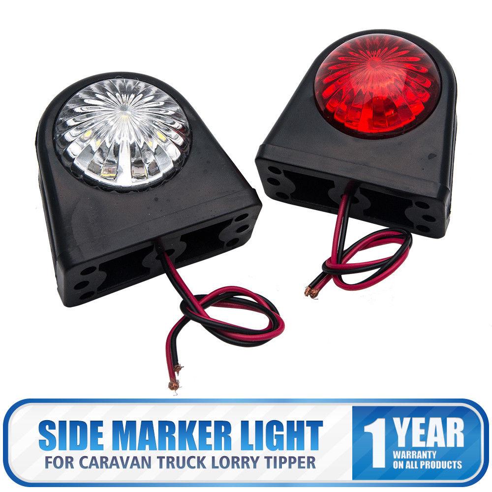 12V CAR TRUCK LORRY TRAILER ROUND LED BULLET BUTTON REAR SIDE MARKER LIGHT