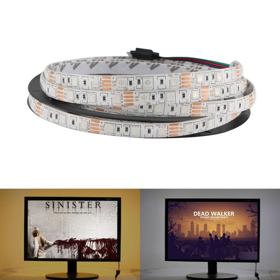LED Strip 5050 24V RGB WarmWhite DC 5 12 24 V Volt 5 Meter Waterproof Flexible Light Ledstrip Tape Rope Lamp Ribbon Tv Backlight
