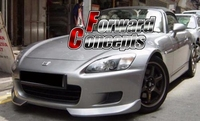 FOR 00 03 S2000 AP1 BODY KIT FRONT BUMPER LIP CANARDS SPLITTERS