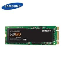 サムスンオリジナル 860 EVO M.2 SSD 2280 SATA 内部ソリッドステートディスク 1 テラバイトハードドライブ HDD ギガバイト 250 500 ギガバイトディスコ duro ssd ノート Pc 用
